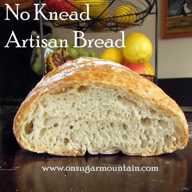 No Knead Artisan Bread - On Sugar Mountain