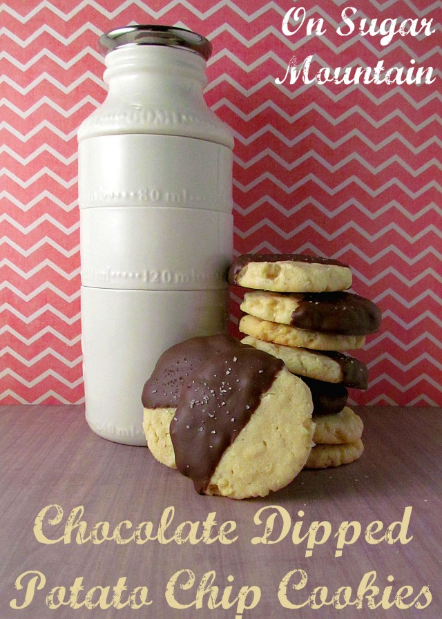 Chocolate Covered Potato Chip Cookies - On Sugar Mountain