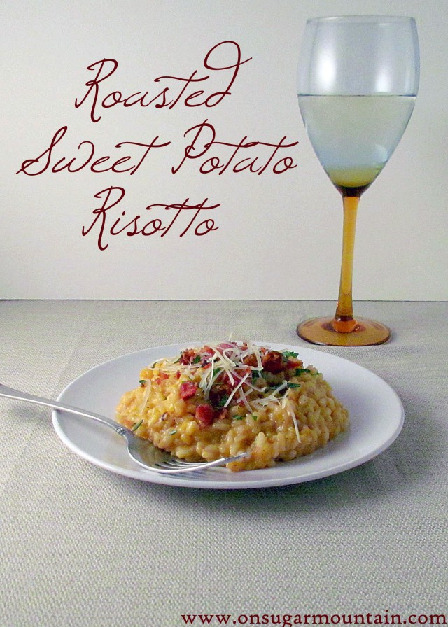 Roasted Sweet Potato Risotto - On Sugar Mountain