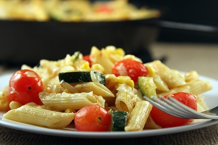 Fresh Veggie Pasta Skillet - On Sugar Mountain