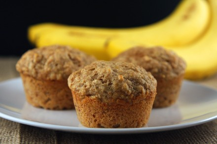 Brown Butter Banana Bread Muffins with whole wheat flour - On Sugar Mountain