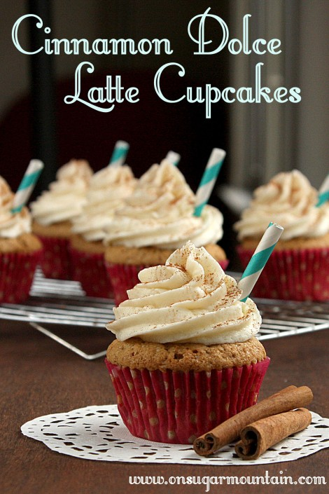 Cinnamon Dolce Latte Cupcakes (recipe) - on sugar mountain